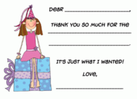 Custom Thank You Fill-in Note Card  FCC-FI