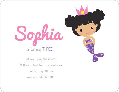 Mermaid Birthday Invitation 12946