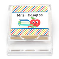 Colorful Bookworm Sticky Note Holder