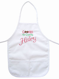 Cookies for Santa Embroidered Apron