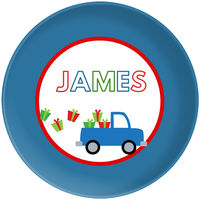 Gift Truck Blue Plate