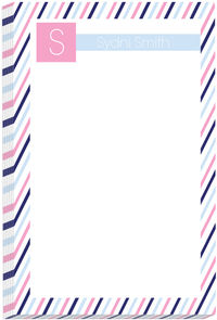 Blue Pink Stripes Pad