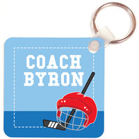 Hockey Coach Key Chain