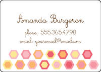 Colorful Hexagons Calling Card