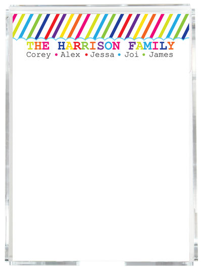 Family Stripes Memo Sheets