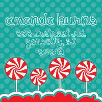 Peppermint Pops Return Address Label