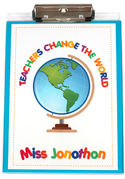 Teachers Change the World Acrylic Clipboard
