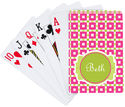 Fuchsia Lime Playing Cards