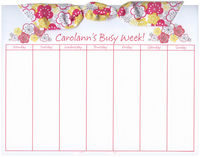 Flower Bouquet Pink Bow Calendar