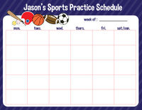 Just Sporty Weekly Calendar