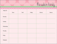Blush Circles Weekly Calendar