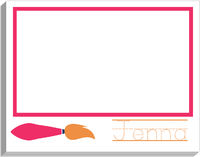 Paint Brush Pink Writing Pad