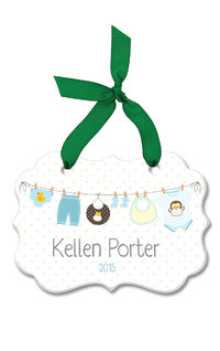 Baby Boy Clothes Line Acrylic Ornament