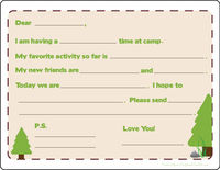 This Way to Camp Fill-in Card