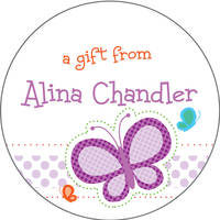 Dotted Butterfly Gift Stickers