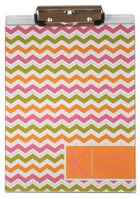 Colorful Chevron Acrylic Clipboard