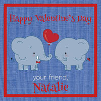 Elephants Love Valentine's Stickers