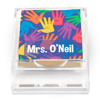 Bright Handprints Sticky Note Holder
