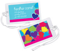 Bright Hearts Luggage Tag