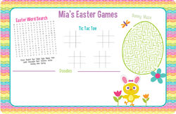Chicky Bunny Easter Paper Placemats