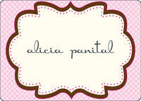 Chocolate Pink Frame Calling Card