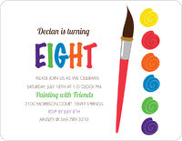 Paint Palette Birthday Invitation
