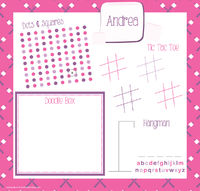 Girly Marshmallows Games Writing Board