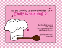 Cooking Fun Pink Invitation