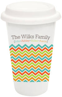 Chevron Family Covered Ceramic Tumbler