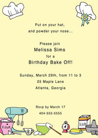 Baking Invitation SSI04