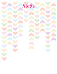 Lined Hearts Large Notepad