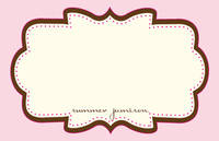 Chocolate Pink Frame Paper Placemats