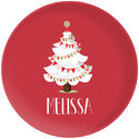 White Christmas Tree Plate
