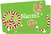 Candy Cane Peace Placemat