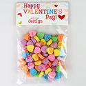 Lined Hearts Valentines Candy Bag Toppers