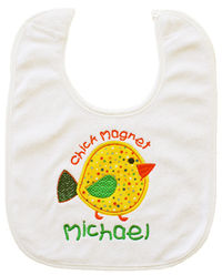 Chick Magnet Embroidered Bib