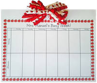 Red Apple Korker Calendar Pad