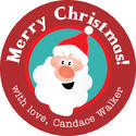 Jolly Santa Gift Stickers