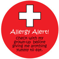 Please Check Allergy Alert Vinyl Sticker