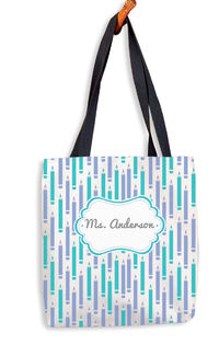 Lilac and Turquoise Tote Bag
