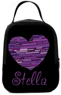 Lilac Heart Lunch Box