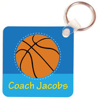 Basketball Coach Key Chain