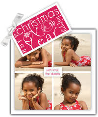 Fun Red Tag with Snowflake Ribbon Card