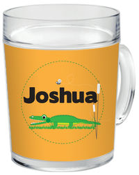 Alligator Chomp Clear Acrylic Mug