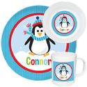 Penguin Boy Melamine Set