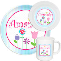 Spring Flowers Melamine Set
