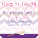 Camp Fire Girl Calling Card