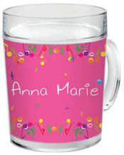 Bright Notes Clear Acrylic Mug