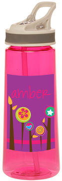 Graphic Flowers Water Bottle
