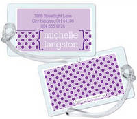 Purple Dots Too Luggage Tag